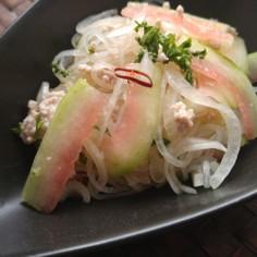 食品ロスを減らす❗️すいかの皮のサラダ