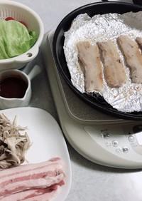 厚い焼肉用豚バラも柔らか、サムギョプサル