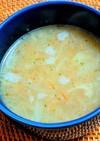 新玉ねぎとフライドオニオンのスープ