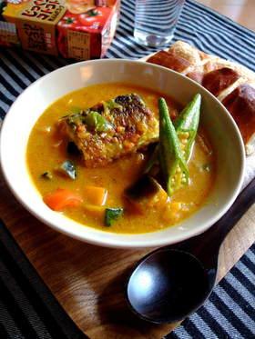 コトコト煮込んだ秋刀魚のカレースープ