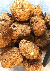 オートミールと炒り糠のオレンジクッキー♡