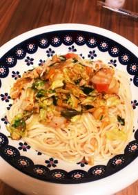ひやむぎビビン麺