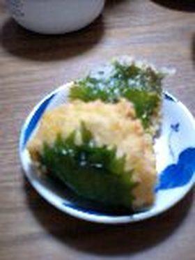 豆腐の大葉揚げ