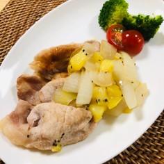 キウイのフルーティ生姜焼き