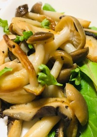 しめじと椎茸のバター炒め・きのこの副菜