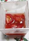 トマトの蜂蜜漬けゼリー。