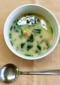 具沢山の豆乳コーンスープ(大人用)