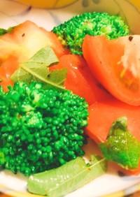 トマトとブロッコリーの和風マリネ