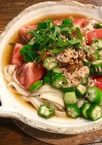 簡単♡ツナと野菜の冷やし素麺(うどん)