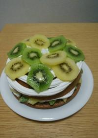 ゼスプリキウイのデコレーションケーキ