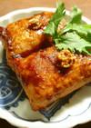 スパイスアップウスターソースの肉巻き餅