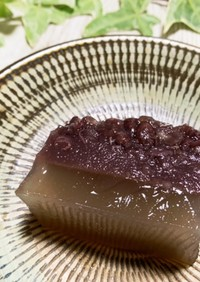 三層の☆小豆ゼリー