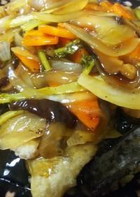 簡単美味・塩鯖のポン酢で作る甘酢あんかけ