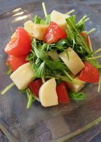 父の日に!かまぼことトマトの爽やかサラダ