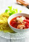 豚肉とセロリのトマトつけ麺