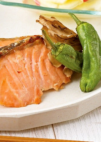 生鮭のヨーグルトみそ漬け 焼き野菜添え