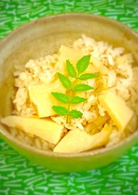 昆布と鰹節でちゃんと作るタケノコご飯