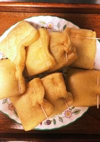 薄揚げのチクワチーズ包