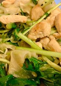 シャキシャキ水菜と鶏胸肉の南蛮サラダ
