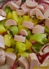 キウイと赤かぶとギョニソのサラダ
