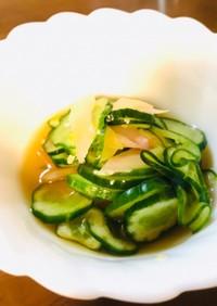 きゅうりと新生姜の酢の物(減塩レシピ)