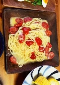 ブッラータとトマトのパスタ