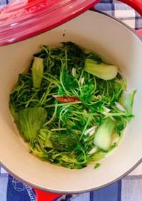 青梗菜と豆苗のエスニック風