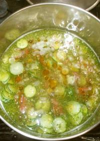 冷たい生姜梅干しスープ♪簡単