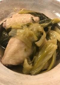 手羽中とチンゲン菜の中華風煮込み