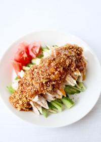 ササミやむね肉で【棒棒鶏(バンバンジー)