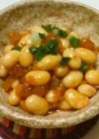 大豆の赤いピリ辛オイル漬け♥濃いタイプ