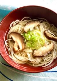 素麺と椎茸のお吸い物