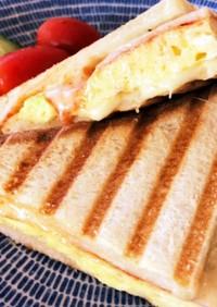 ホットサンド☆ハム卵チーズ
