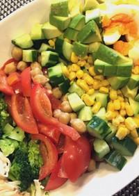 父の日に♡野菜たっぷりコブサラダ