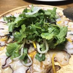 タコのピリ辛アジアンカルパッチョ