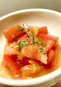 ザクザクトマトのひとてま酢サラダ