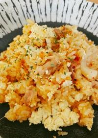 【ダイエット飯】炊飯器de豚キムチ炒飯☆