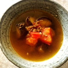 ナスとトマトの食べる素麺漬け汁