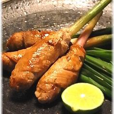 谷中生姜(葉生姜)の豚味噌巻き