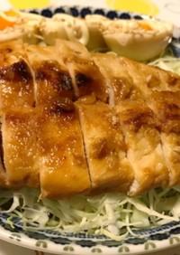 鶏胸肉の味噌漬け焼き