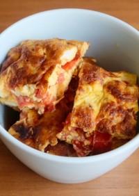 フライパンで簡単♪トマトのオムレツ