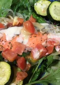 紅鮭と夏野菜のイタリアングリル