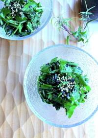 小松菜と三つ葉の胡麻海苔ふりかけ和え
