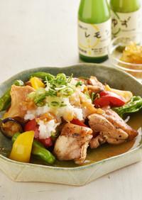 野菜たっぷり 鶏もも肉のさっぱり炒め