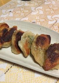 手作り餃子の皮 食べ応えがあります。