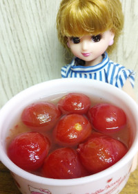 リカちゃん♡ミニトマトの梅肉蜂蜜甘酢漬け