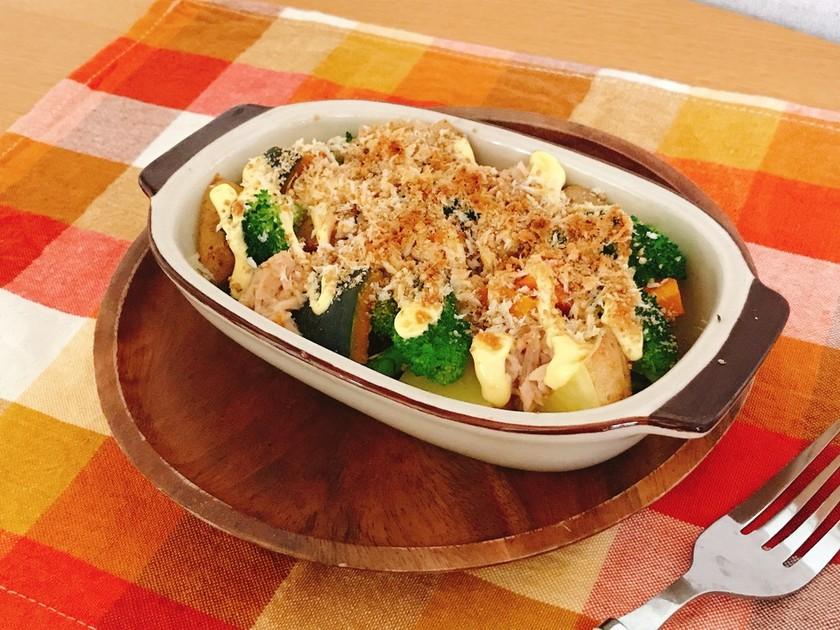 温野菜のごまパン粉焼き