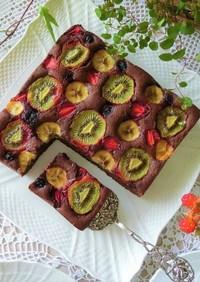 フルーツチョコレートパウンドケーキ