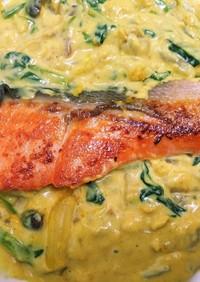 フライパン一つで!鮭のカレーソース