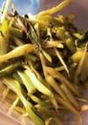 ブロッコリーの茎 中華炒め